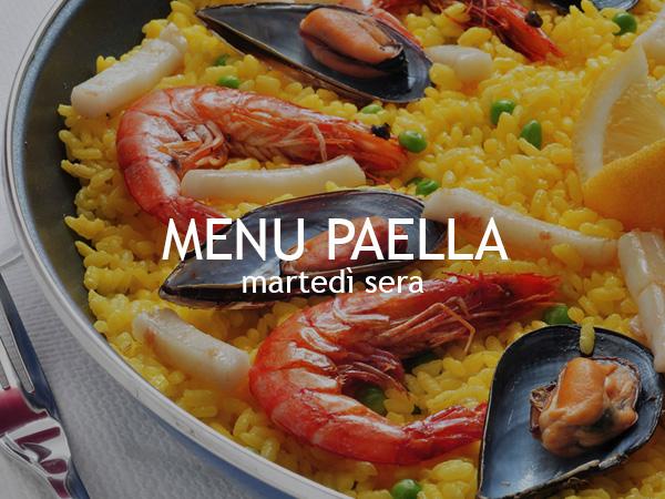 menu paella al pesciolino